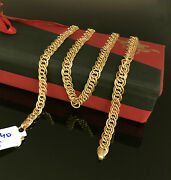 18 Kt Hallmark Real Solid Yellow Gold Curb Cuban Necklace Menand039s Chain 13.740 Gm