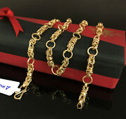 18 Kt Hallmark Real Solid Yellow Gold Curb Cuban Necklace Menand039s Chain 14.260 Gm