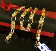 18 Kt Hallmark Real Solid Yellow Gold Curb Cuban Necklace Menand039s Chain 23.760 Gm