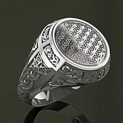 14 Kt Solid White Gold Fine Jewelry Vintage Antique Menand039s Ring Size 89101112