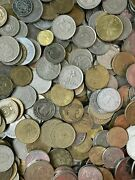 500 Coins Job Lot Of Unsorted And Unchecked 500 Coins Of World Coins Free Pandp