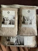 Hotel Collection Pink/blush King Quilted Coverlet And Pillowshams