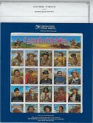 2870 Recalled 29cent Legends Of The West In Blue Envelope And 2869 Revised Sheet