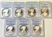 American Eagle Silver Proof Lot Of 17 All Pcgs 69 Dcam