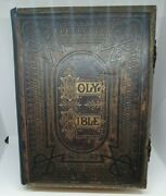 Vintage Old Family Holy Bible Numerous And Illustrations By Rev.john Brown 1884