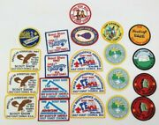Vintage Boy Scouts Gulf Coast Council Patch Lot Mixed Lot Of 21 Rp