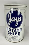 Vintage Jays Metal Potato Chip Can 1986 Limited Edition 1 Lb Tin