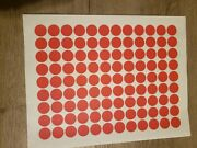 10,800 Red Removable Blank Garage Yard Sale Stickers Labels Tags Sale