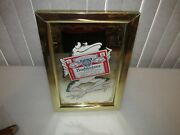 Vintage Budweiser Beer Mirror Frog With Label Rare