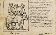 Old Master Drawing Italian View Rome Italy Sonnet Nibs Alessandro Tassoni Palace