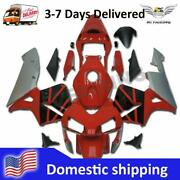 Woo Injection Mold Red Silver Cowl Fairing Fit For Honda 2003-2004 Cbr600rr W081