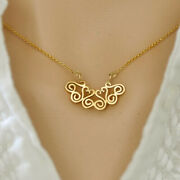 Fine Jewelry 18 Kt Hallmark Real Solid Yellow Gold Dainty Chain Necklace Pendant