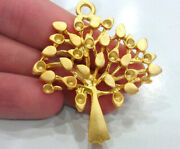 Fine Jewelry 22 Kt Hallmark Real Solid Yellow Gold Tree Vintage Necklace Pendant