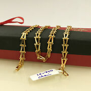 18 Kt Hallmark Real Solid Yellow Gold Link Unisex Necklace Chain 14.750 Grams