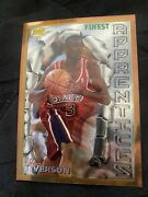 1996-97 Topps Finest Allen Iverson Rookie Rc 69 Sixers Kobe Lebron Mj