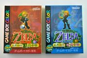 Open Box Complete Zelda Oracle Of Ages Seasons Japanese Nintendo Game Boy Color