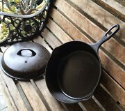 Vintage Griswold Cast Iron Skillet Chicken Pan 8 Iron Mountain