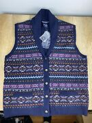 Nwt Polo Fair Isle Sweater Size Large 95 Lamb Wool Golf Vest