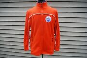 Nhl Edmonton Oilers Vintage Sweater Zippered Sewn On Patch Preowned Sz. Xl