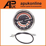 Rev Counter Tachometer Tractormeter Mph + Cable For Massey Ferguson 135 Tractor