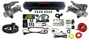 Level Ride Preset Pressure W/complete Airmaxxx Chrome 480 Air Management Kit