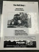 Fecon The Bull Hog Model Bh120h Vintage Owner's And Instruction Manual