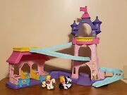 Fisher Price Little People Disney 2 Princess Klip Klop Horse Stable And Castle