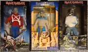 Neca Iron Maiden Piece Of Mind Powerslave And The Trooper 8 Clothed Figuresnew