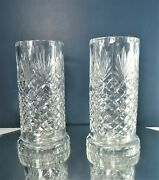 Pair Of Fine Crystal Candle Lamps 2pc Waterford
