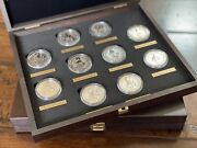 The Queenand039s Beasts 2oz Silver Bullion Complete Collection Case And Labels And Coins