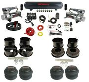 Complete Air Ride Suspension Kit 3/8 Evolve Manifold And Bags For 91-96 Caprice