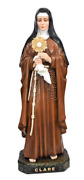 Saint Clare 47 Inch Large Catholic Religious Gifts Colored Resin Large Statue
