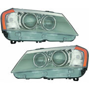 For Bmw X3 Headlight Assembly 2011-2014 Pair Driver And Passenger Dot Certified