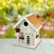 Outdoor Bird House Comfy Cottage Style Cute And Cozy Perfect For Any Backyard