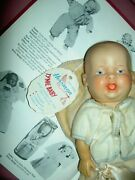 Rare Horsman C1950 Tagged Tynie Baby Vinyl Doll In Blanket Near Mint Orig. Cond.