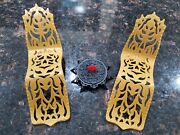 Monster High Doll 13 Wishes Desert Oasis Cleo Playset Gold Lounge 2 Chairs
