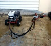 Little Beaver 8 Auger Post Hole Digger 8.0 Honda Engine Tested Runs Perfectly