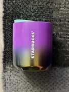 Starbucks Tumbler 8 Oz. Purple To Iridescent Cup With Sip Lid