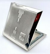 Art Deco Sterling Silver Loose Powder Compact – 1921