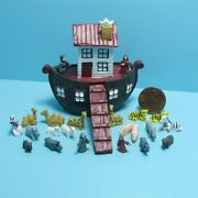 Dollhouse Miniature Noah's Ark Toy Play Set With People And Animals T8001
