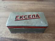 Vintage Excella Sewing Machine Accessories Tin Box
