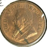 1898 South Africa 1 Penny Km2 Excellent Color Xf-ef