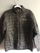 Columbia Men Black Down Jacket Puffer Medium