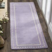 Safavieh Bella Collection Bel151m Handmade Dotted Border Premium Wool Area Rug