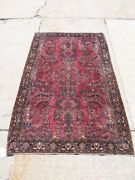 Gorgeous C.1920 4x6 Persian Sarouk In Mint Condition With Lovely Plush Purple