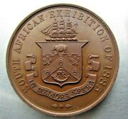 South African Exhibition 1885 Medal Copper 49mm - Outstanding Gem Proof