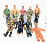 Lot Of 8 Vintage 12 Hasbro Gi Joe Mac Toy In Time Action Figures 1990s Outfits