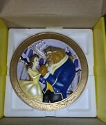 Disney Store Beauty And The Beast Le 3d Collectible Plate Tale As Old As Time