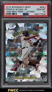 2018 Bowmanand039s Best And03998 Best Performers Atomic Ronald Acuna Jr. Rookie Rc Psa 10