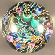 Art Glass Paperweight - Glass Eye Studios Cool Pool Ges 08 - 2008 3 1/4